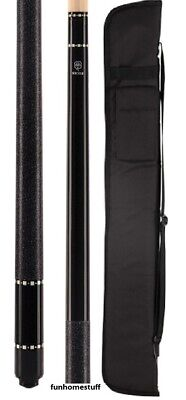 New McDermott Lucky L12 BLACK Two-piece Billiard Pool Cue Stick & FREE Soft Case