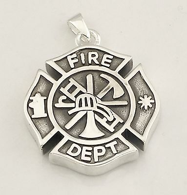 Cremation Fire Fighter Medilion urn jewelry chain Memorial pendant fill kit