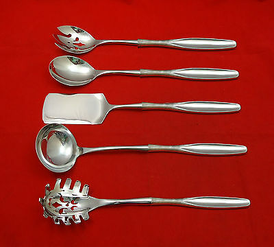 Ellipse by Kirk Sterling Silver Hostess Set 5pc HHWS  Custom Made