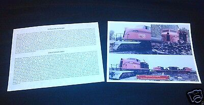 SOUTH SHORE LINE  LITTLE JOE  The Wreck of Unit 801  Print suitable for framing!