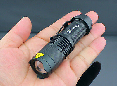 NEW 600LM Lumen CREE Q5 LED Zoomable Waterproof Torch Flashlight