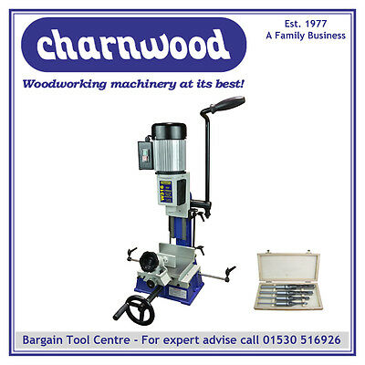 Charnwood W316P Package Deal: 5/8'' Capacity Bench Top Morticer with 4 Chisels