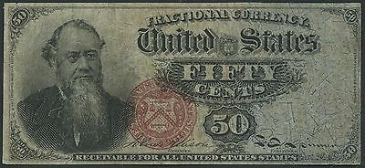 Fr1376 4Th Issue Fractional Currency 50 Cents Vf+ Br8959