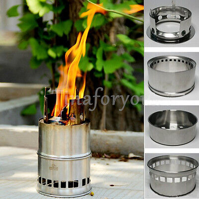 Light Weight Wood Gas Backpacking Emergency Survival Burning Camping Stove Gifts