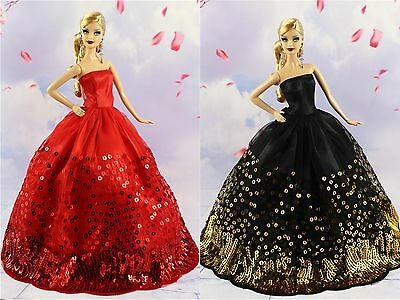2* Collection Royalty Princess Black and Red Dress/Clothes For 11.5in.Doll S28F