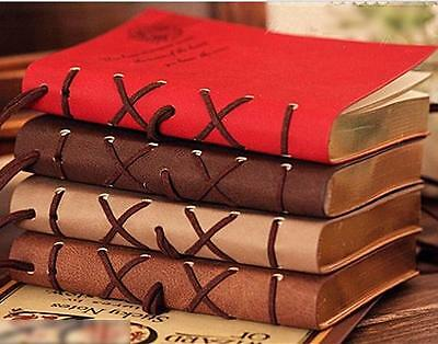 Retro Classic Vintage Leather Bound Blank Pages Journal Key Blank Diary Notebook