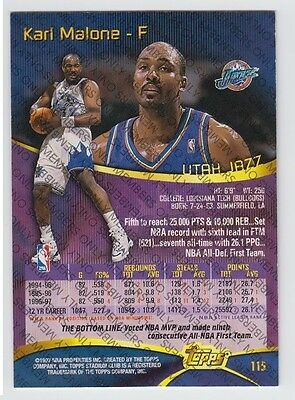 1997-98 STADIUM CLUB MEMBERS ONLY KARL MALONE #115 RARE VERY LIMITED