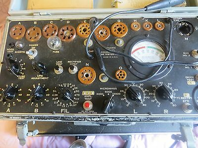 VINTAGE SIGNAL CORPS I-177-B TUBE TESTER LOOKS AND WORKS GREAT LOOK!!!!!!!!