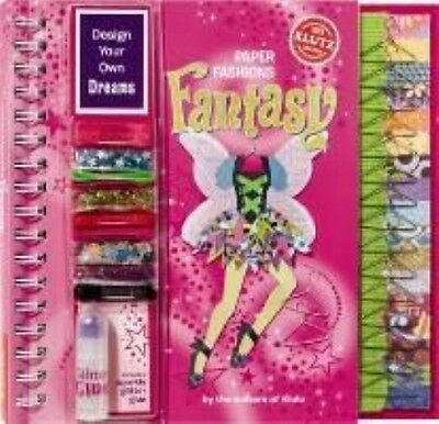 Paper Fashions Fantasy by Editors of Klutz Bonded Leather Book (English)