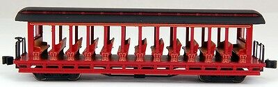 Bachmann N Scale Train Open Sided Excursion Car Burgundy & Black 19397