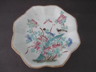 Chinese Antique 19Th Century Famille Verte Porcelain Plate W/ Tongzhi Mark