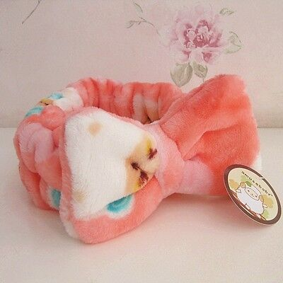 Cute Pink Bow Headband For Face Wash Make Up Facial Gym Sport
