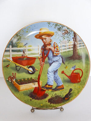 1991 Children Of The Week Saturday's Child By Elaine Gignilliat Collector Plate
