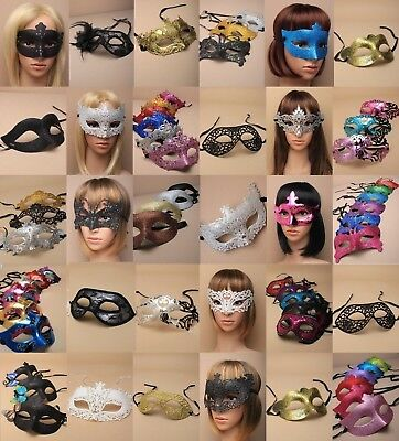 Pack Of Wholesale : Deluxe Masquerade / Party Masks : Choose Pack Size : Unisex
