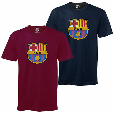 FC Barcelona Official Football Soccer Gift Mens Crest T-Shirt