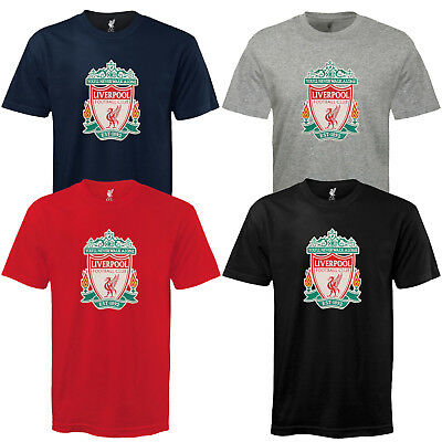 Liverpool Football Club Official Soccer Gift Mens Crest T-Shirt
