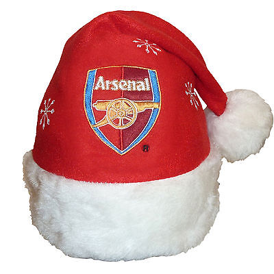 Arsenal Football Club Official Soccer Xmas Gift Christmas Santa Beanie Hat Red