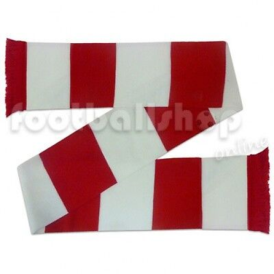 Liverpool Colours Soccer Gift Retro Bar Scarf Red White