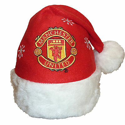 Manchester United Football Club Official Xmas Gift Christmas Santa Beanie Hat