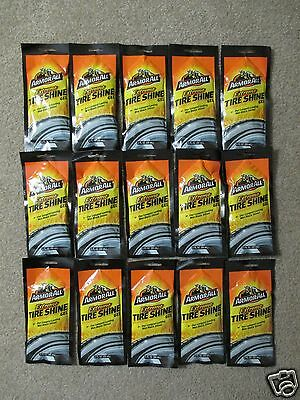 *15* 2 oz POUCHES ARMOR ALL EXTREME TIRE SHINE GEL EACH DOES 4 TIRES FREE SHIP