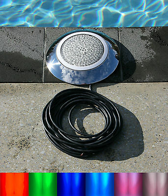 546 LED stainless color swimming pool light 30' cable