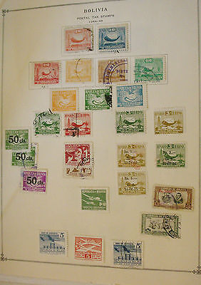 Bolivia   Postal Tax   Stamp  Collection