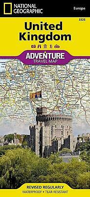 United Kingdom Adventure Travel Map: Travel Maps International Adventure Map by