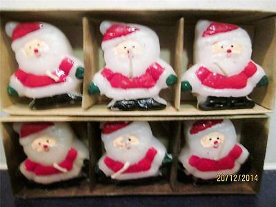 6 Scented Floating Santa Christmas Candles