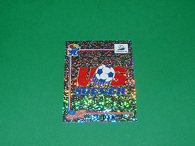 N°407 Usa Us Soccer Badge Ecusson Panini Football France 98 1998 Coupe Monde Wm