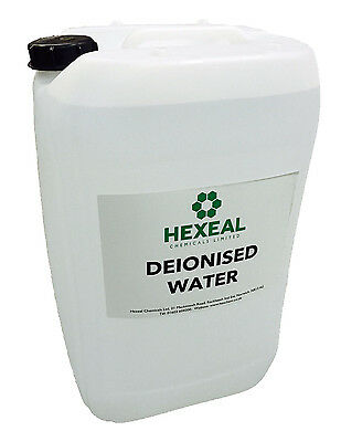 DEIONISED WATER | 25 LITRE | (De Mineralised/De Ionised/Not Distilled) PURE 25L