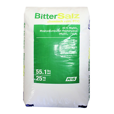 EPSOM SALT | 25KG BAG | 100% Natural | FCC Food Grade | Magnesium Sulphate