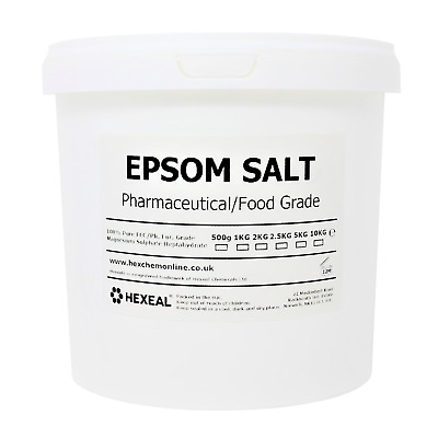 EPSOM SALT | 5KG BUCKET | 100% Natural | FCC Food Grade | Magnesium Sulphate