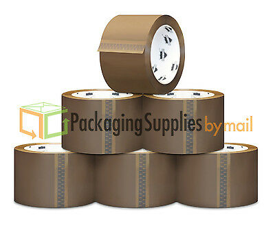 """216 Rolls Brown Tan Packaging Packing Tape Shipping 2"""" 1.8 Mil 55 yd 330'"""