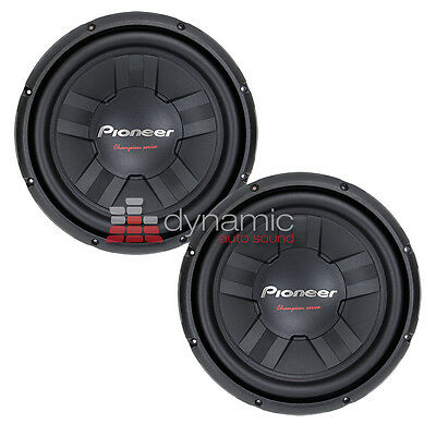 "(2) Pioneer TS-W311S4 Car 12"" Champion Subs SVC 4 ohm Subwoofers 2,800W New"