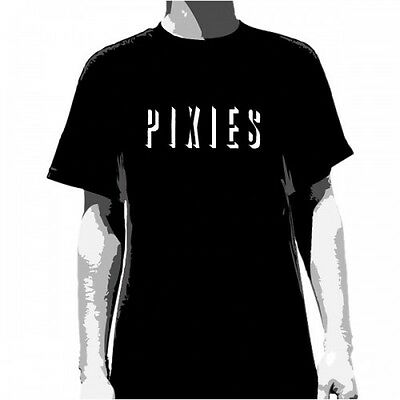 PIXIES - Shadow Logo Black T-shirt - NEW - LARGE ONLY