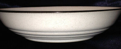 Noritake Stoneware Folkstone 8507 Tina Soup Bowl 20 Oz White With Grey Speckles