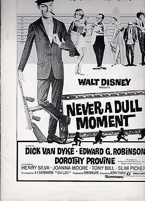 Never A Dull Moment 1977 Disney Movie Ad Booklet Dick Van Dyke