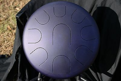 "Ajna Steel Handpan 14"" 9 Tone Tongue Drum with Case - Minor Scale USA Made"
