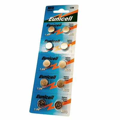 10 x AG13 GP76 357A SR44SW RW42 1.5V Alkaline Button Cell Battery