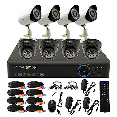 8CH Channel DVR Video Home 960H In Out Waterproof Security CCTV Camera System