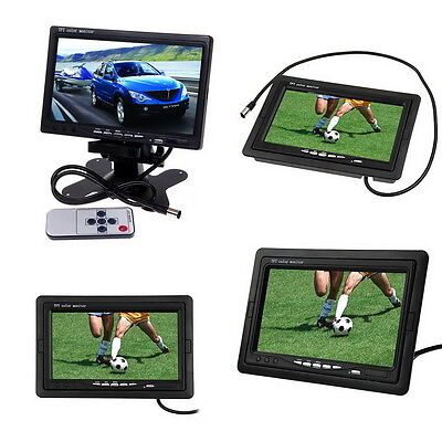 """7""""TFT LCD Digital Color Car Rear view Monitor For DVD VCR Camera Remote Control"""