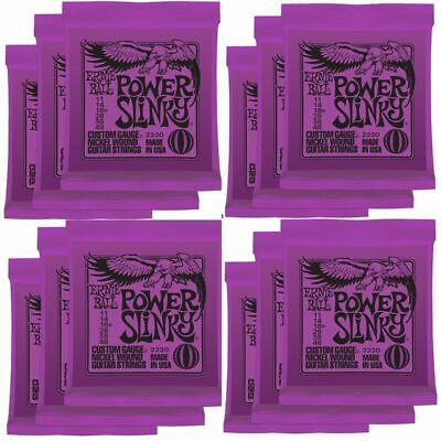12 x Ernie Ball 2220 Power Slinky Nickel Electric Guitar Strings 11 - 48 Gauges