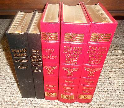 Easton Press W.Shirer 5 vol. Incl. History of the Third Reich, Berlin DIary