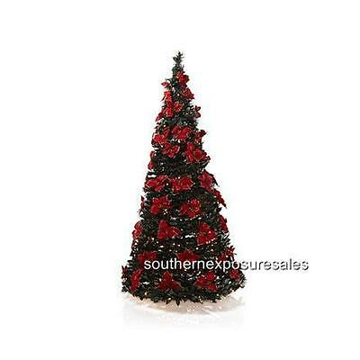 Winter Lane 6' Poinsettia Decorated Pop-Up Christmas Tree With 200 Lights