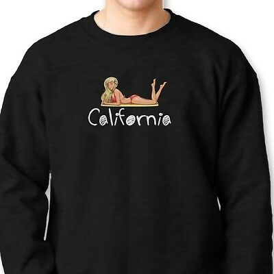 CALIFORNIA Girls Beach Party T-shirt Funny Sun Sand Fun Crew Neck Sweatshirt