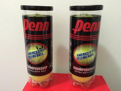 2 cans (6 balls) Penn Extra Duty Championship Tennis Balls #1 Sell in USA New