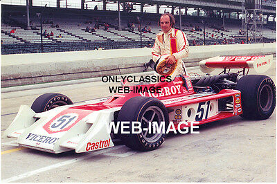 1974 JAN OPPERMAN INDY 500 PHOTO VICEROY CIGARETTE PJ PARNELLI OFFY AUTO RACING