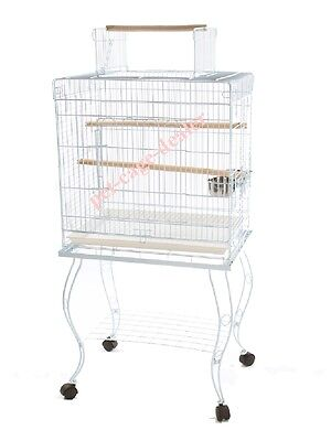"""Parrot Metal Playtop Bird Cage with Stand Cockatiel Amazon Conure 24 x 17 x 53""""H"""