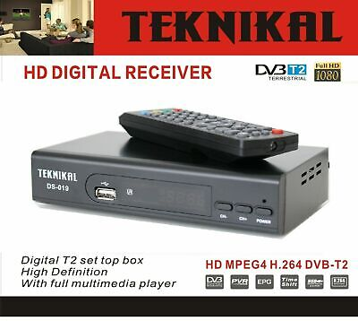 Teknikal HD Freeview Set Top Box Receiver & Recorder for Digital TV Channels