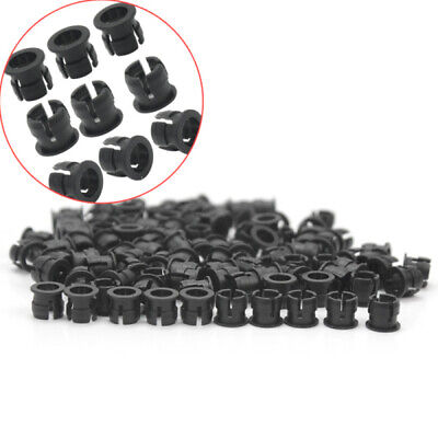 100 Pieces Black Plastic 5mm LED Clip Holder Display Panel Mount Cases ma9r